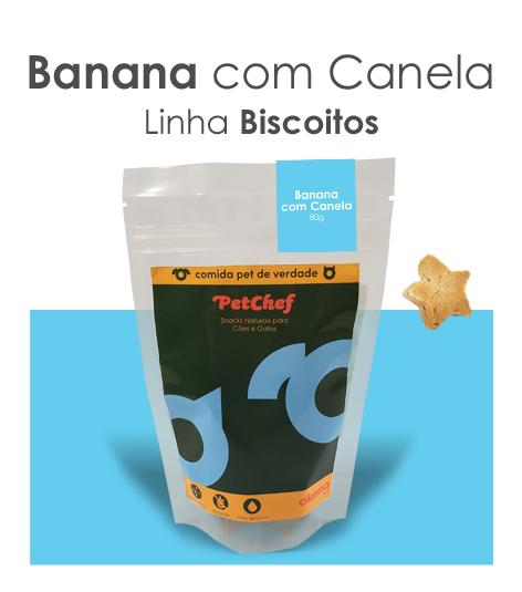 Biscoito - Banana com Canela * Novo tamanho 25% mais delícias