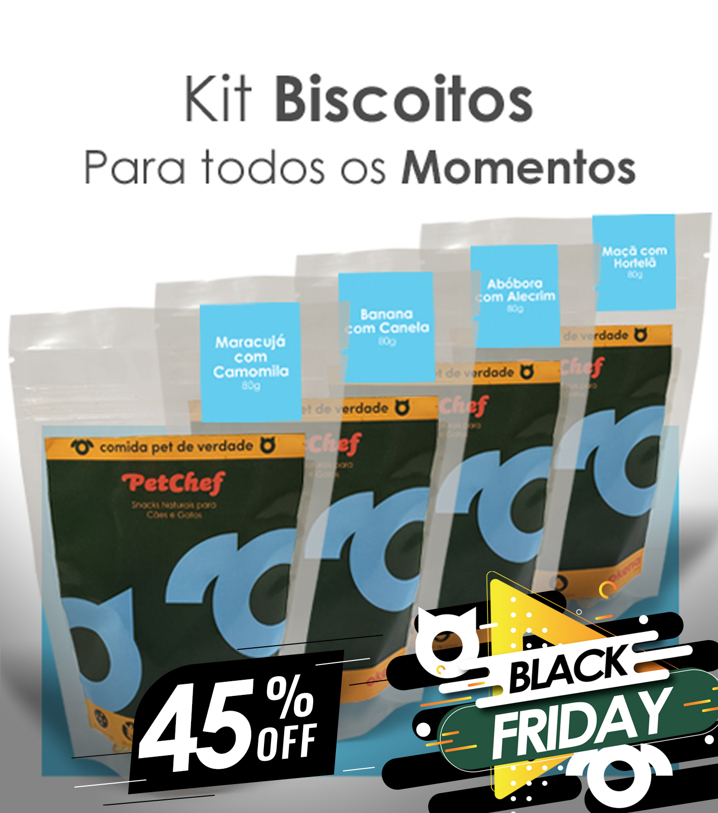 Kit Biscoitos BLACK FRIDAY